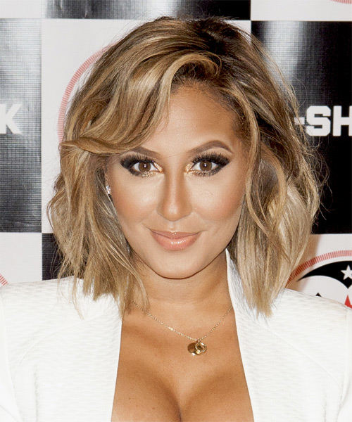 Adrienne Bailon Medium Straight Casual   Hairstyle