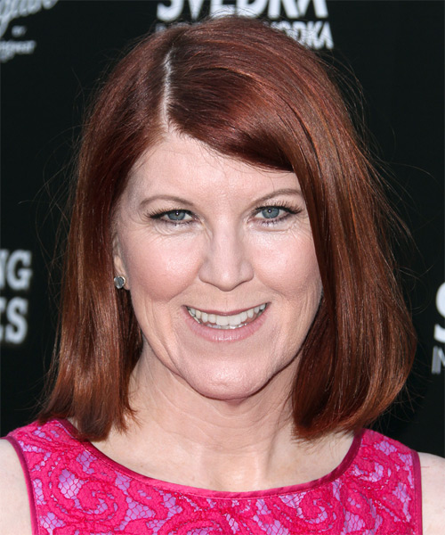Kate Flannery Medium Straight Casual   Hairstyle