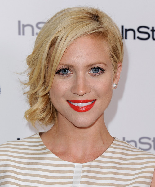Brittany Snow Updo Medium Curly Formal  Updo Hairstyle