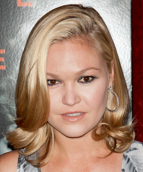 Julia Stiles Medium Straight Formal   Hairstyle