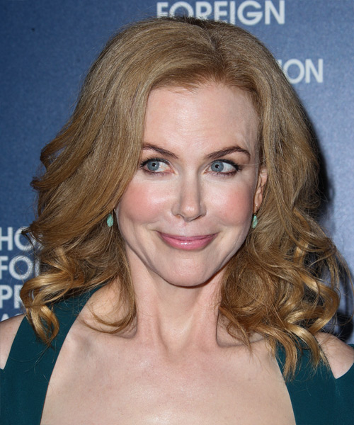 Nicole Kidman Medium Wavy Formal    Hairstyle