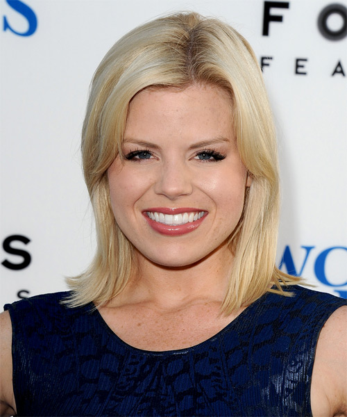 Megan Hilty Medium Straight Formal   Hairstyle