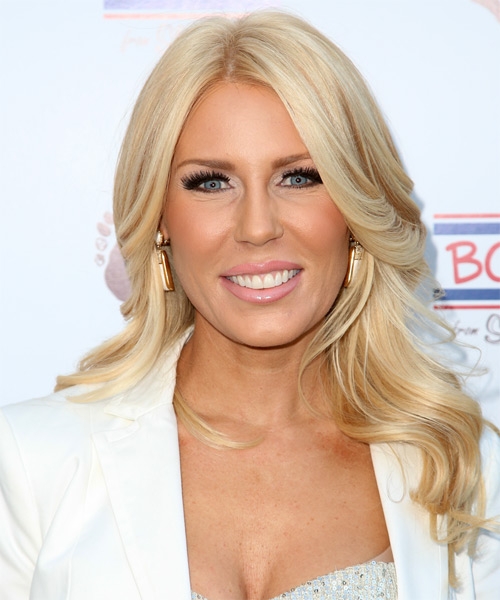 Gretchen Rossi Long Wavy Formal   Hairstyle