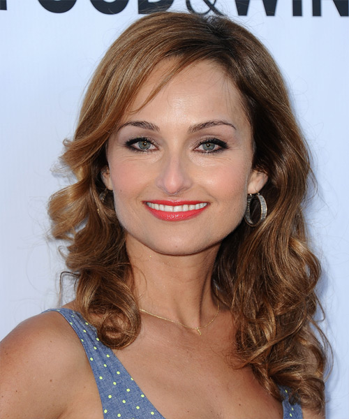 Giada De Laurentiis Long Wavy Casual   Hairstyle