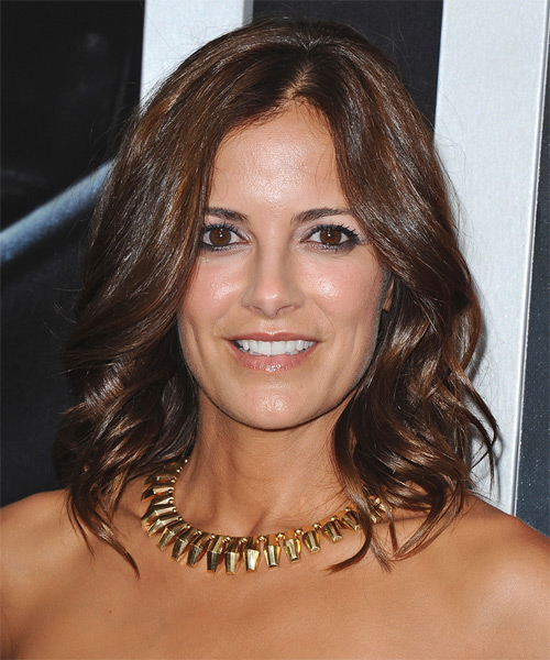 Rebecca Budig Medium Wavy Casual   Hairstyle