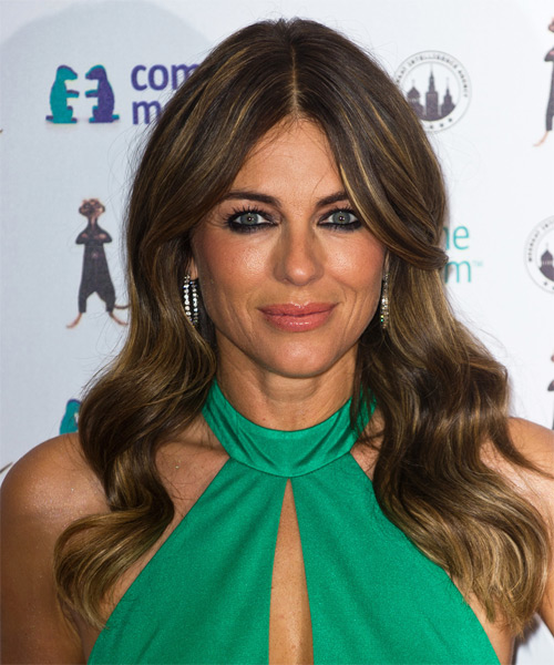 Elizabeth Hurley Long Wavy Formal   Hairstyle