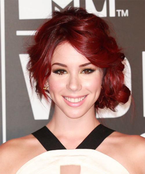 Jillian Rose Reed Updo Long Curly Formal  Updo Hairstyle