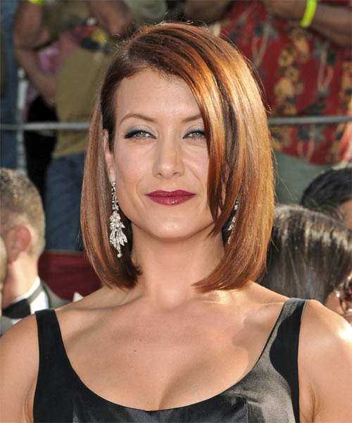 Kate Walsh Medium Straight Formal   Hairstyle