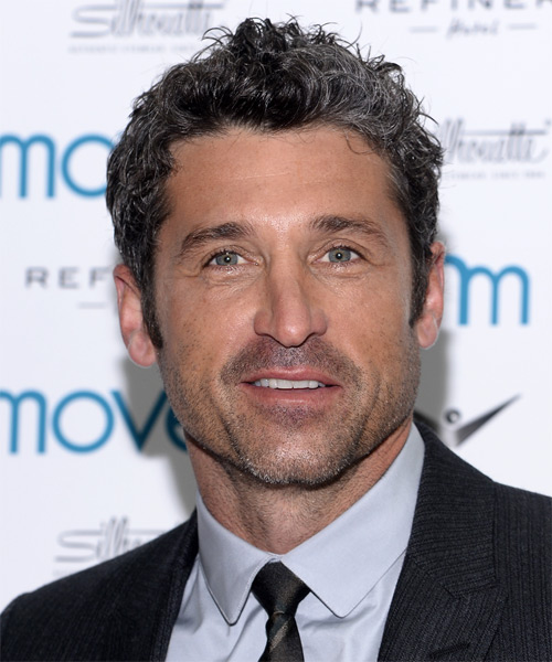 Patrick Dempsey Casual Short Curly Hairstyle