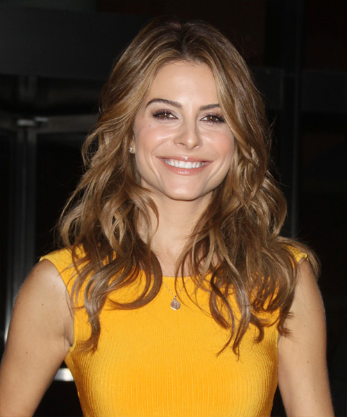 Maria Menounos Long Wavy Casual    Hairstyle   - Light Brunette Hair Color