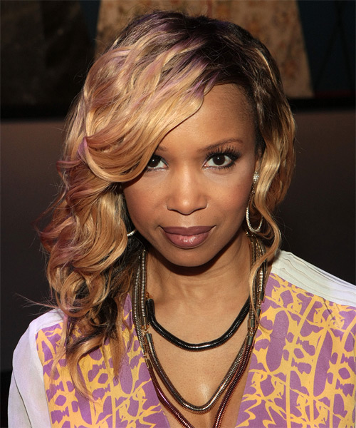 Elise Neal Side Swept Hairstyle
