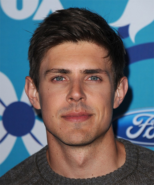 Chris Lowell Short Straight Casual Hairstyle