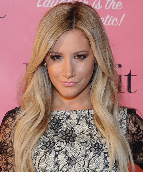 Ashley Tisdale Long Straight Formal   Hairstyle