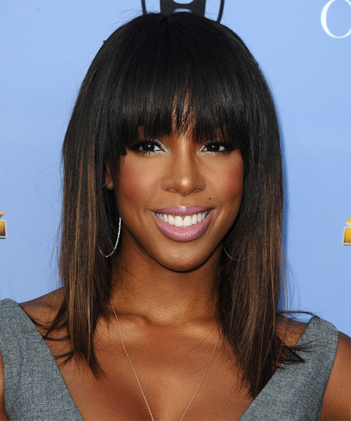 Kelly Rowland Medium Straight Formal   Hairstyle