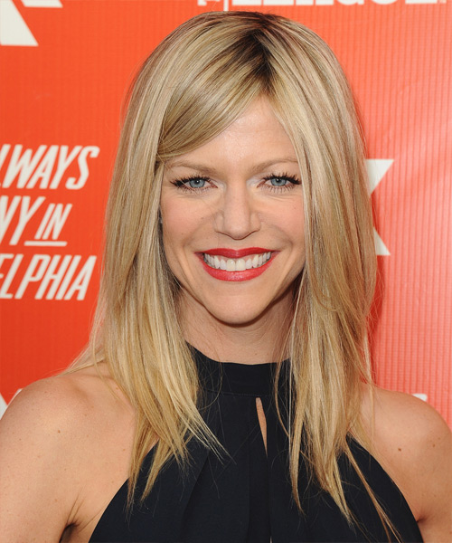 Kaitlin Olson Long Straight Formal   Hairstyle