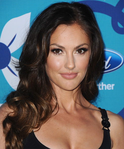 Minka Kelly Long Wavy Formal   Hairstyle
