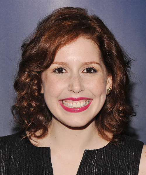 Vanessa Bayer Medium Curly Casual    Hairstyle