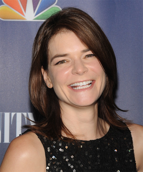 Betsy Brandt Medium Straight Casual   Hairstyle