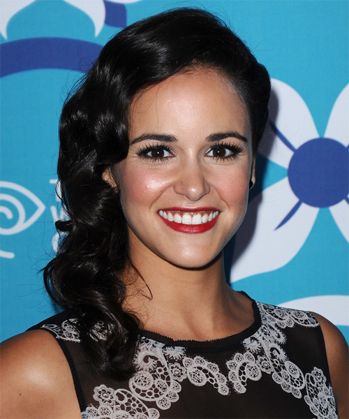 Melissa Fumero  Medium Curly Formal   Updo Hairstyle