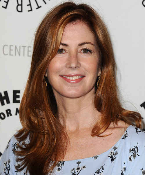Dana Delany Long Straight Casual   Hairstyle