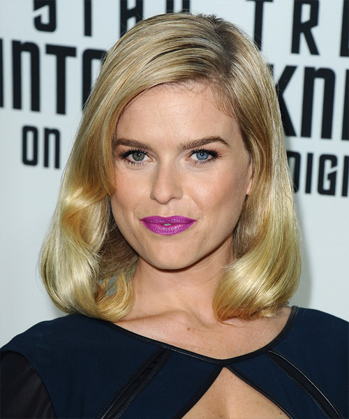 Alice Eve Medium Straight Formal   Hairstyle