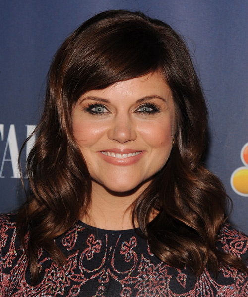 Tiffani Thiessen Long Wavy Formal   Hairstyle