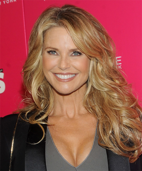 Christie Brinkley Long Straight Formal   Hairstyle