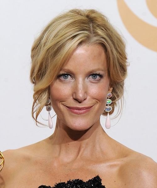 Anna Gunn Updo Long Curly Formal  Updo Hairstyle