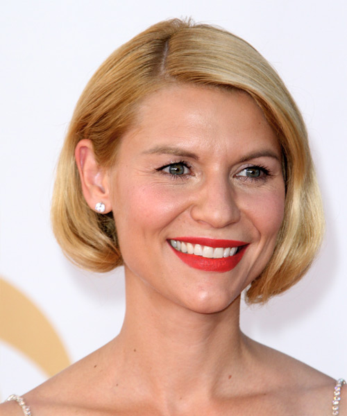 Claire Danes Short Straight Formal   Hairstyle