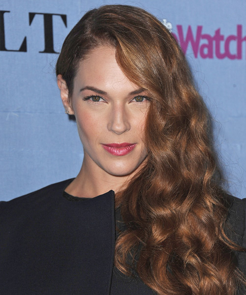 Amanda Righetti Long Wavy Formal   Hairstyle