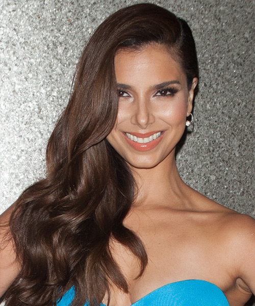 Roselyn Sanchez Long Wavy Formal   Hairstyle