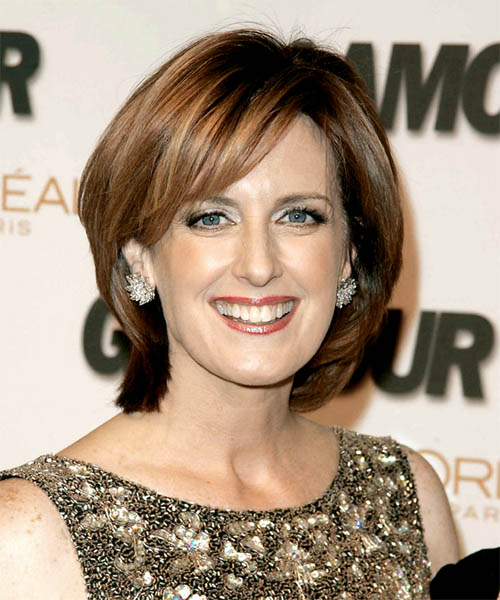 Anne Sweeney Medium Straight Formal   Hairstyle