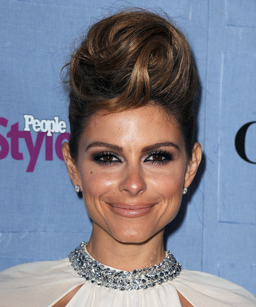 Maria Menounos Updo Long Straight Formal  Updo Hairstyle