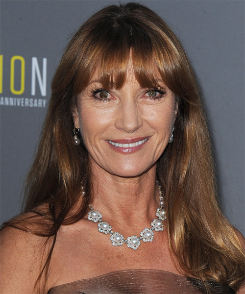 Jane Seymour Long Straight Casual   Hairstyle