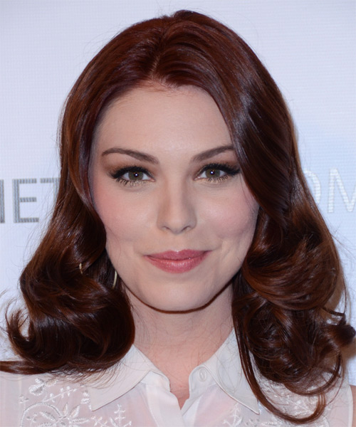 Kaitlyn Black Medium Wavy Formal   Hairstyle