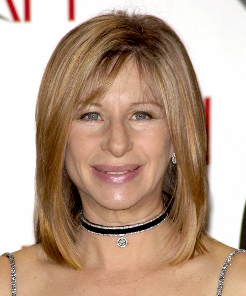 Barbra Streisand Medium Straight Formal   Hairstyle