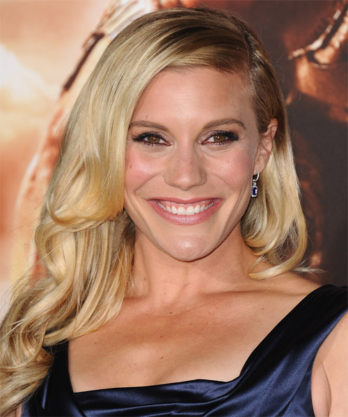 Katee Sackhoff Long Wavy Formal   Hairstyle