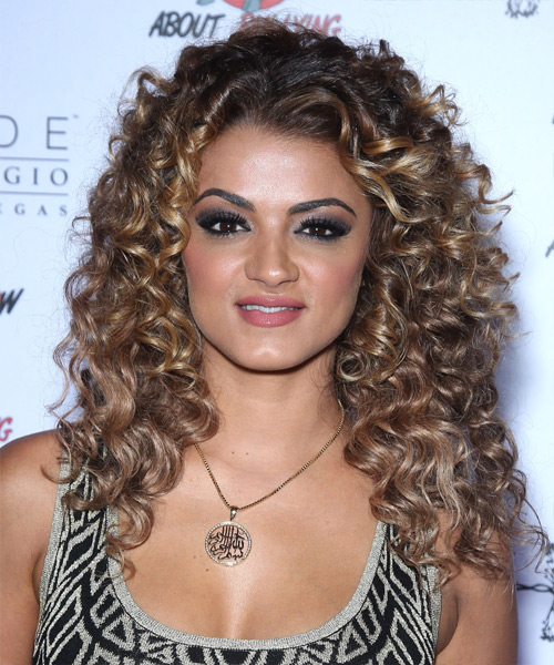 Golnesa Gharachedaghi Long Curly Casual    Hairstyle