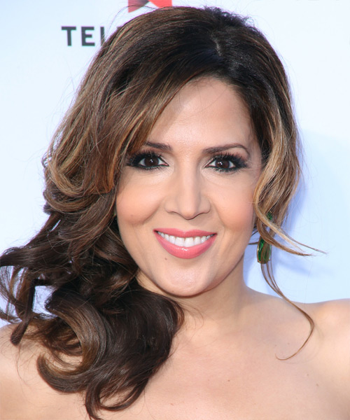 Maria Canals Berrera  Medium Curly Formal   Updo Hairstyle