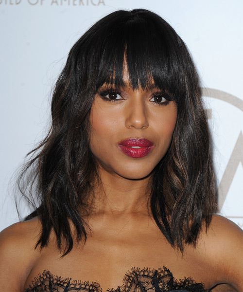 Kerry Washington Medium Wavy     Hairstyle