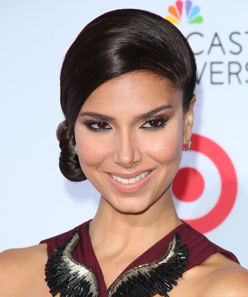Roselyn Sanchez Updo Long Straight Formal  Updo Hairstyle