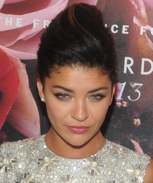 Jessica Szohr  Long Straight Formal   Updo Hairstyle