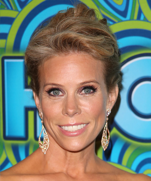 Cheryl Hines  Long Straight Casual   Updo Hairstyle   - Dark Golden Blonde Hair Color