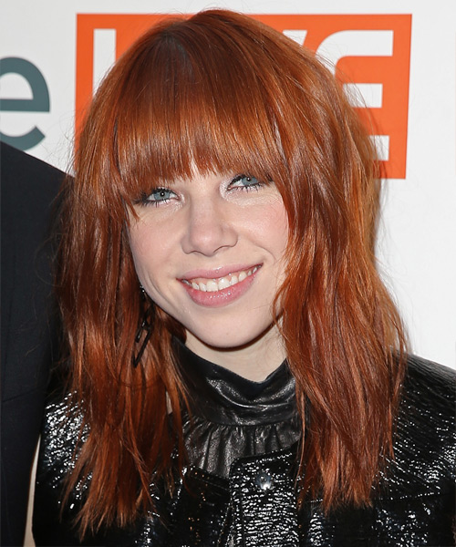 Carly Rae Jepsen Long Straight Casual   Hairstyle