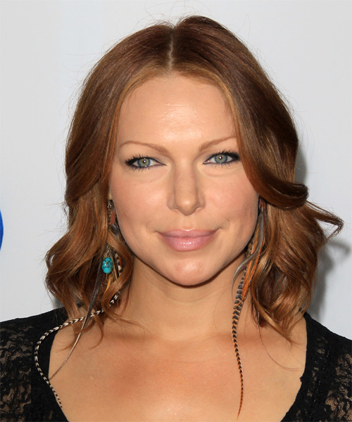 Laura Prepon Medium Wavy Formal   Hairstyle