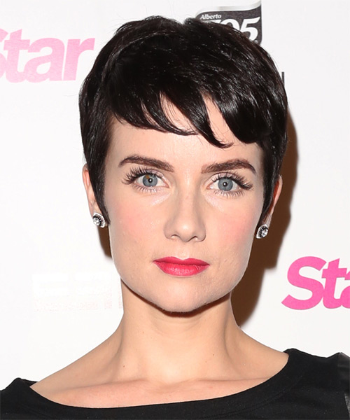 Victoria Summer Short Straight Formal    Hairstyle   - Dark Brunette Hair Color