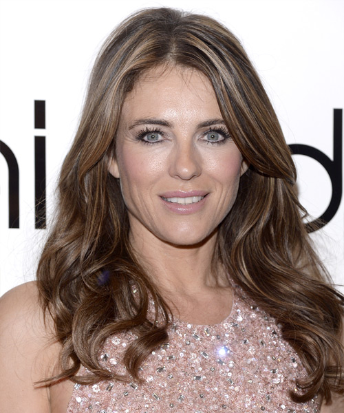 Elizabeth Hurley Long Wavy Casual   Hairstyle