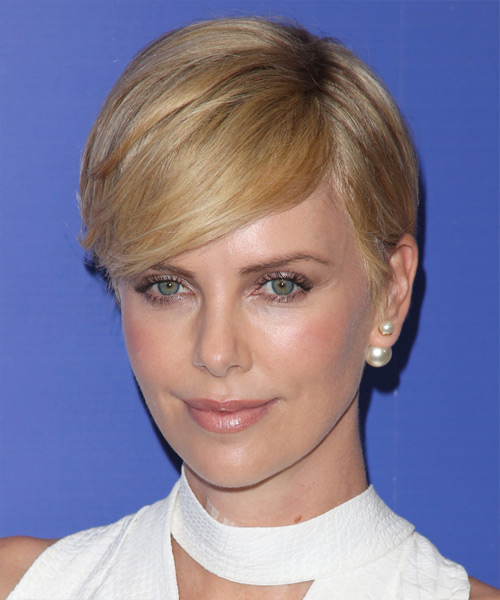 Charlize Theron Short Straight Formal   Hairstyle