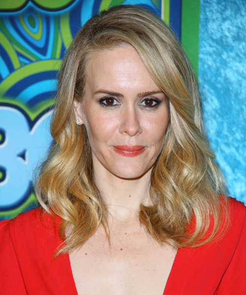 Sarah Paulson Medium Wavy Casual   Hairstyle