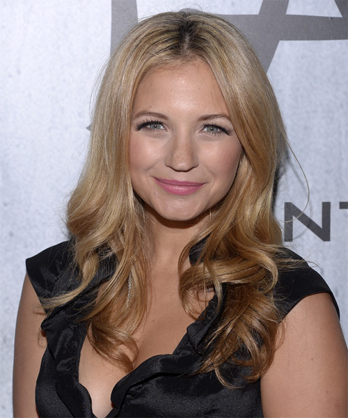 Vanessa Ray Long Wavy Formal   Hairstyle